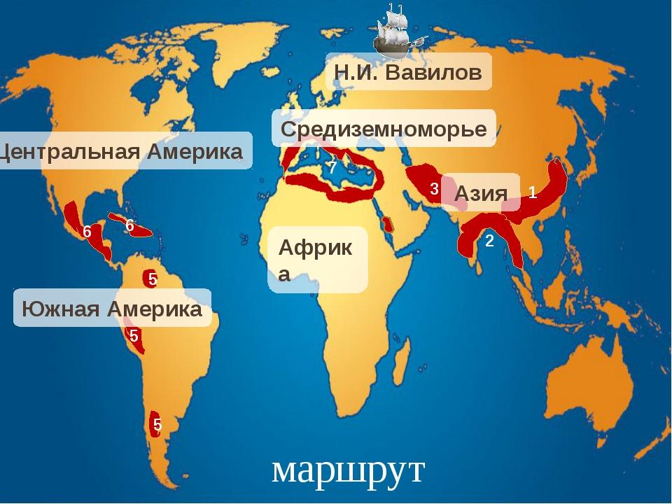 Центры происхождения культурных растений А Б В Г Д Е Ж 6 7 5 3 4 1 2
