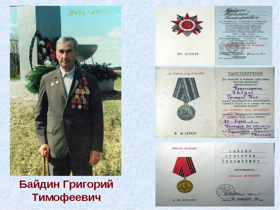 Байдин Григорий Тимофеевич