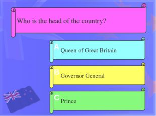 Who is the head of the country? Governor General Queen of Great Britain Princ