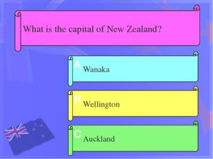What is the symbol of New Zealand? Kiwi Weka Kaka do parrot A B C