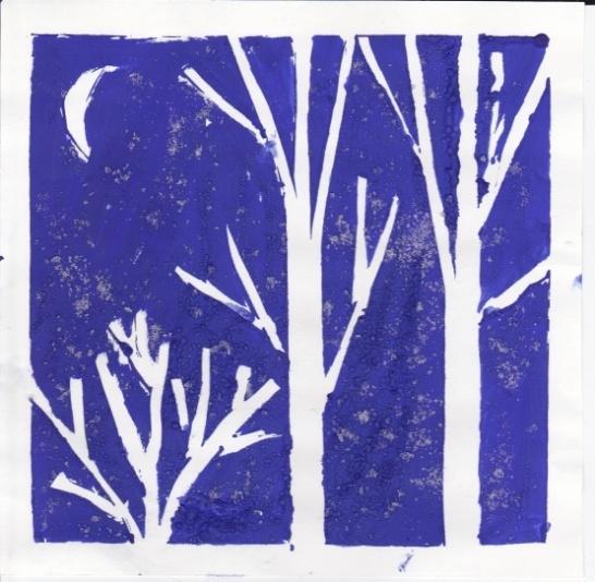 Зимушка-зима в творчестве детей. Нетрадиционная техника рисования