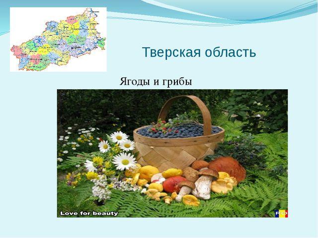 Тверская область Ягоды и грибы