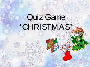 "Quiz Game ""CHRISTMAS"""