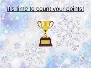 It's time to count your points!