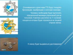 Отличившихся в сдаче норм ГТО будут поощрять бронзовыми, серебряными и золот
