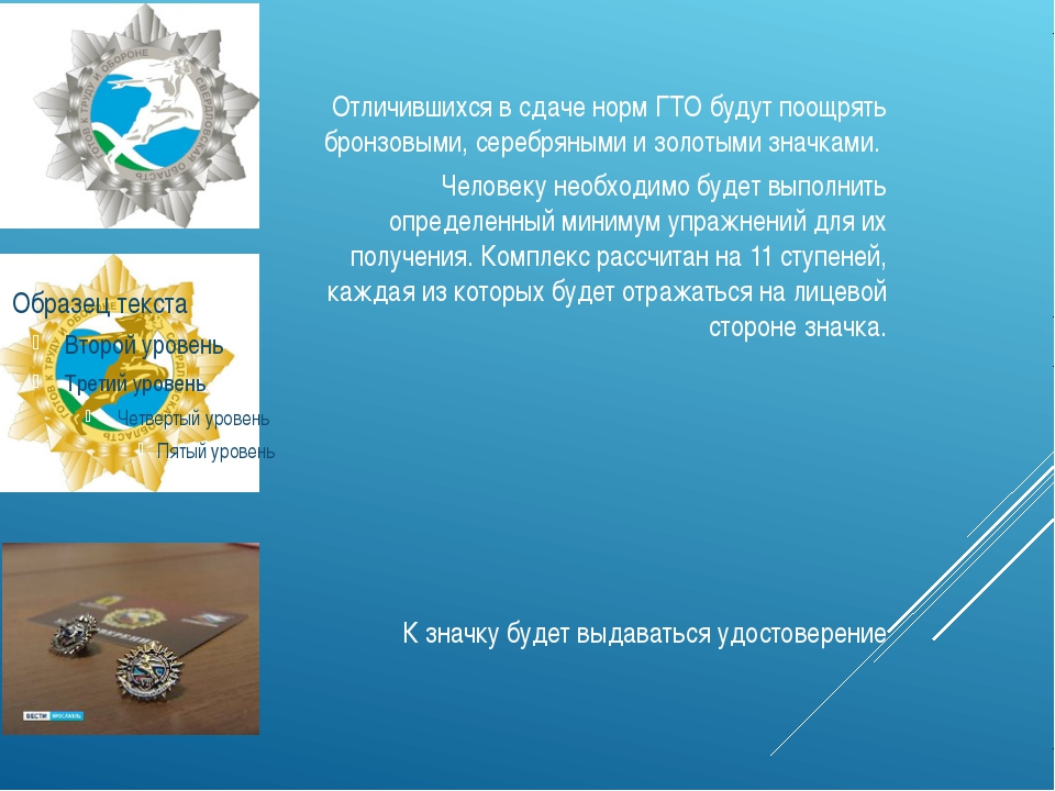 Отличившихся в сдаче норм ГТО будут поощрять бронзовыми, серебряными и золот...