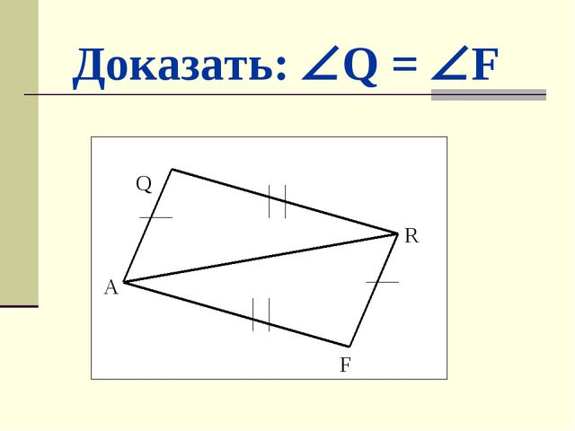 Доказать: Q = F