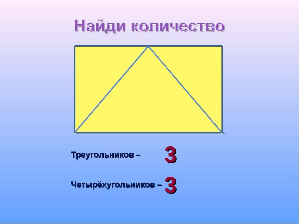 Треугольников – Четырёхугольников – 3 3