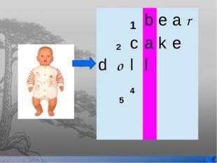 1 b e a r 2 c a k e d o l l 4 5