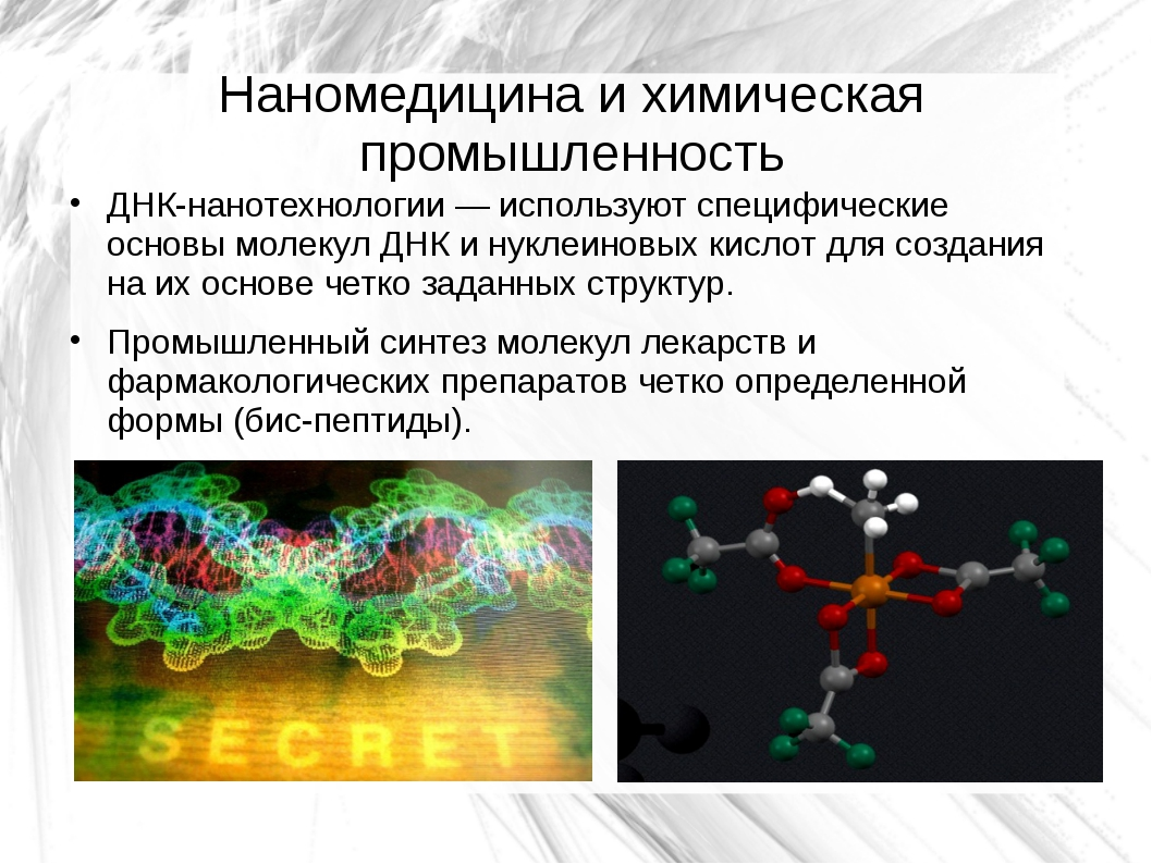 Наномедицина и химическая промышленность ДНК-нанотехнологии — используют спец...