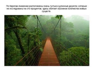 По берегам Амазонки расположены очень густые и длинные джунгли, которые не ис