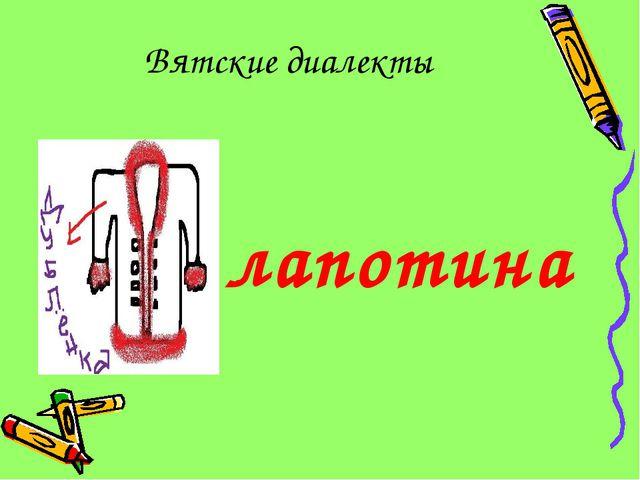 Вятские диалекты лапотина