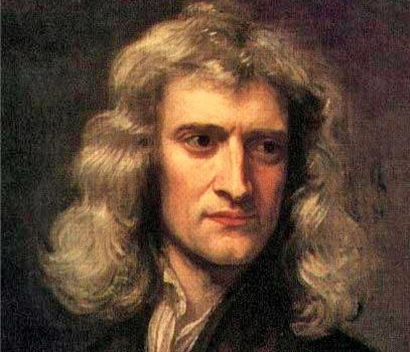 Исаак Ньютон. Портрет кисти Готфрида Кнеллера