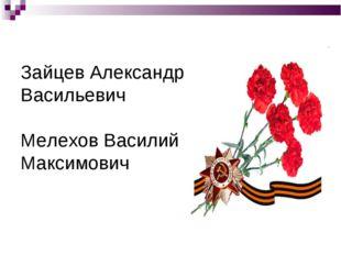 Зайцев Александр Васильевич Мелехов Василий Максимович