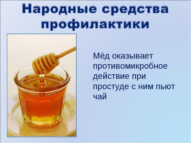 Мёд оказывает противомикробное действие при простуде с ним пьют чай