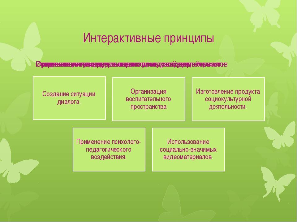 Интерактивные принципы