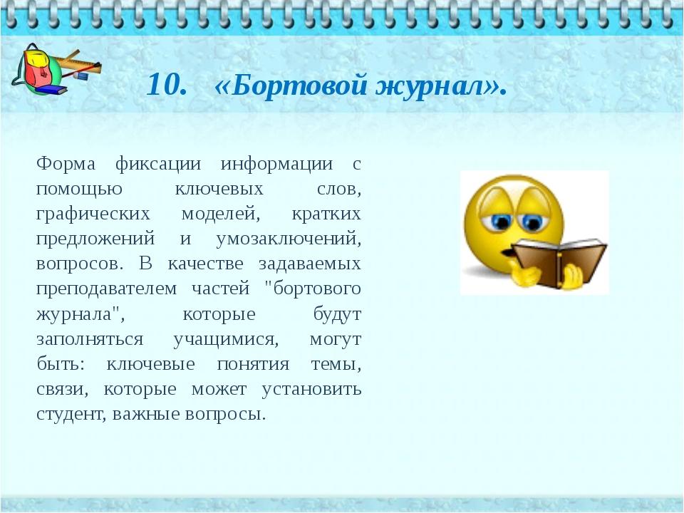 Форма фиксации информации с помощью ключевых слов, графических моделей, кратк...