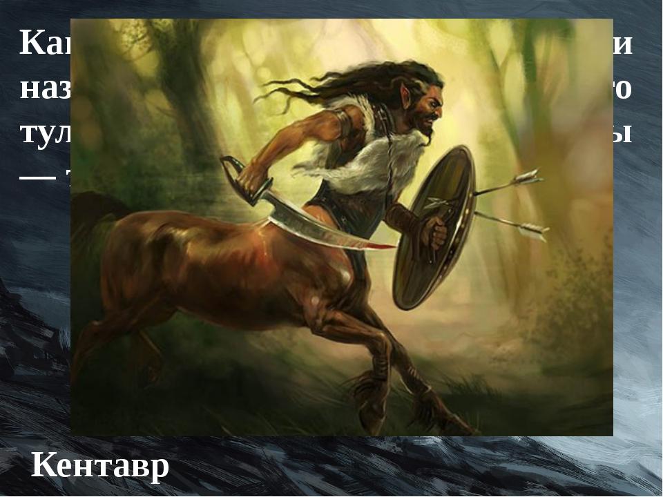 Как в греческой мифологии называлось существо, у которого туловище лошади, а...