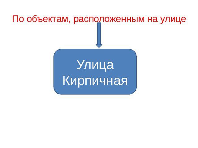 По объектам, расположенным на улице Улица Кирпичная