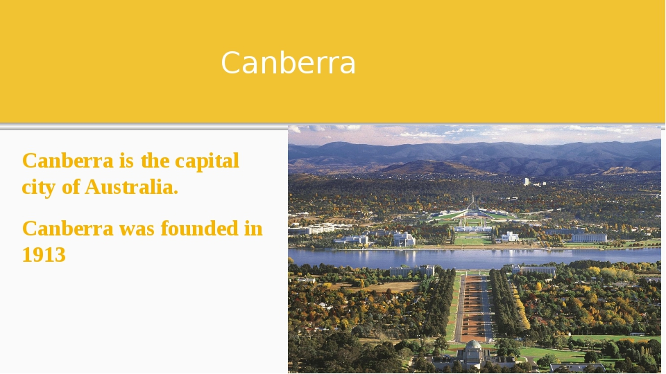 Canberra Canberra is the capital city of Australia. Canberra was founded in 1...