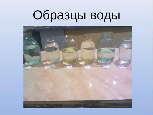 Образцы воды