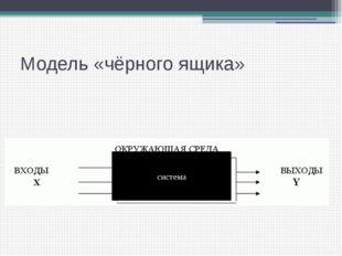 Модель «чёрного ящика» система