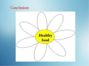 Healthy food Conclusion: