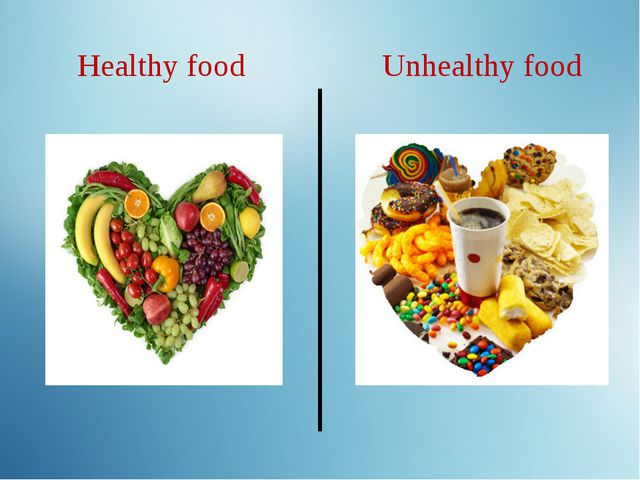 Healthy food Unhealthy food