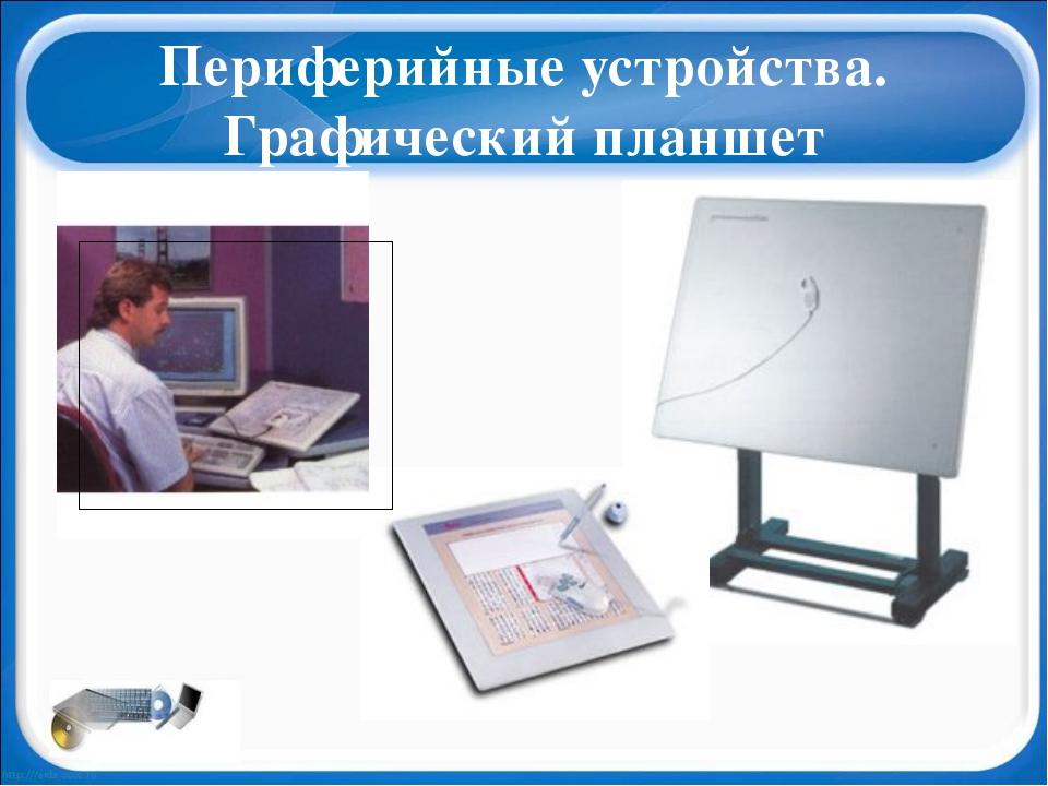 Периферийные устройства. Графический планшет