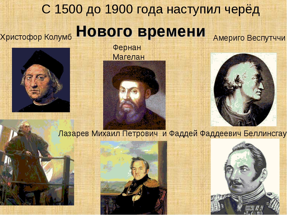 С 1500 до 1900 года наступил черёд Христофор Колумб Фернан Магелан Лазарев Ми...