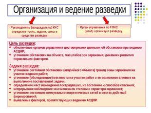 * Руководитель (председатель) КЧС определяет цель, задачи, силы и средства ра
