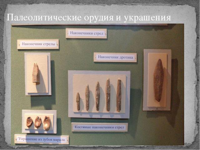 Палеолитические орудия и украшения