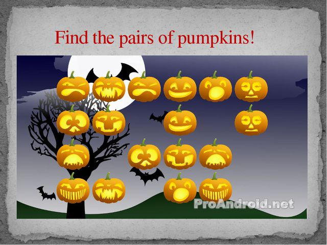Find the pairs of pumpkins!