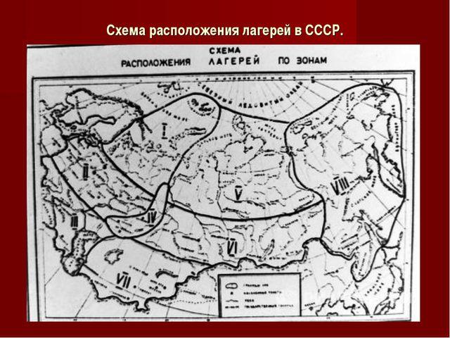 Схема расположения лагерей в СССР.