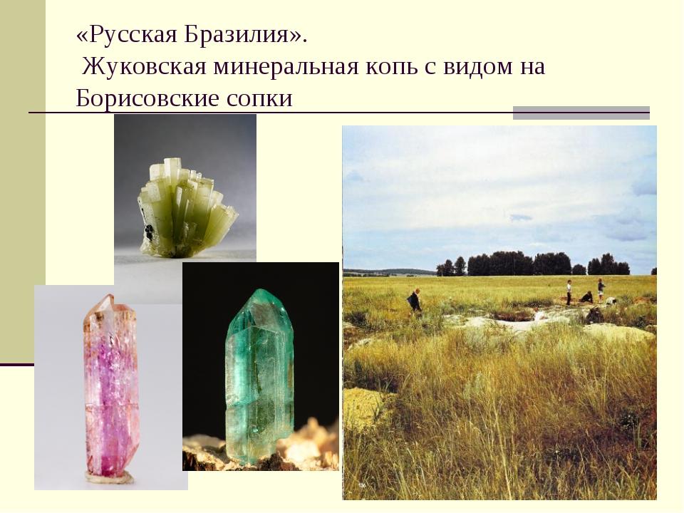 «Русская Бразилия». Жуковская минеральная копь с видом на Борисовские сопки