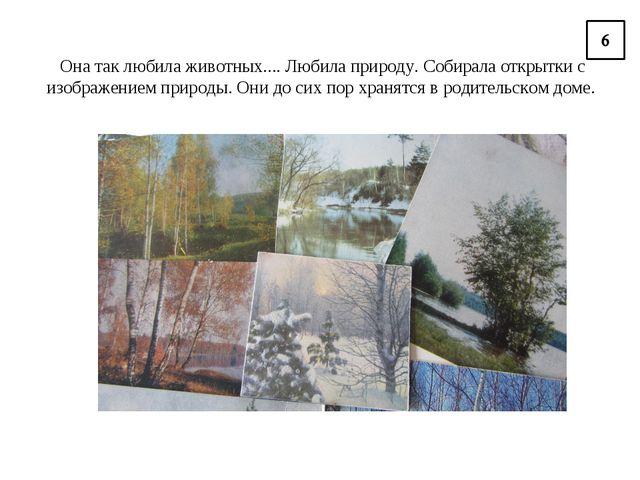 Она так любила животных.... Любила природу. Собирала открытки с изображением...