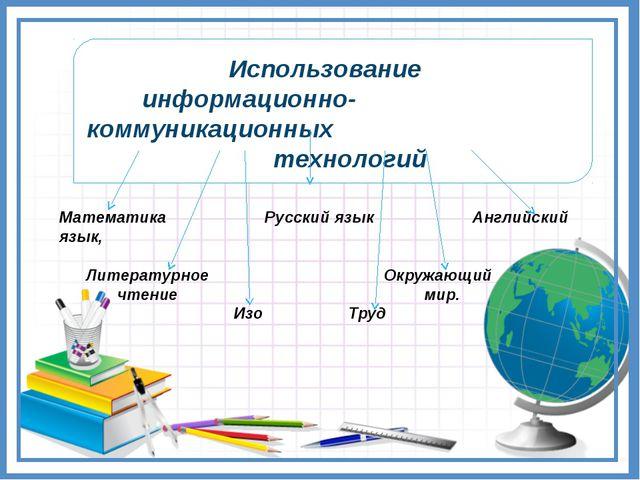 Использование информационно-коммуникационных технологий Математика Русский...