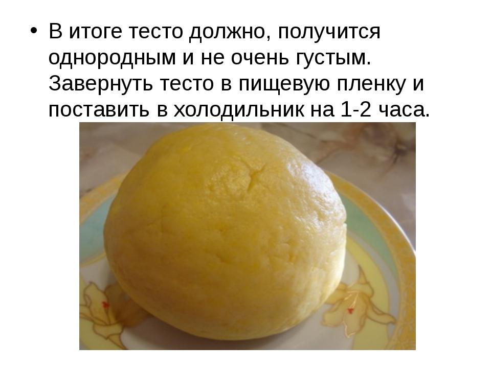 В итоге тесто должно, получится однородным и не очень густым. Завернуть тест...
