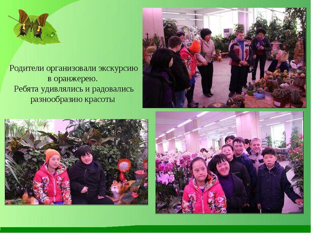 Родители организовали экскурсию в оранжерею. Ребята удивлялись и радовались р...