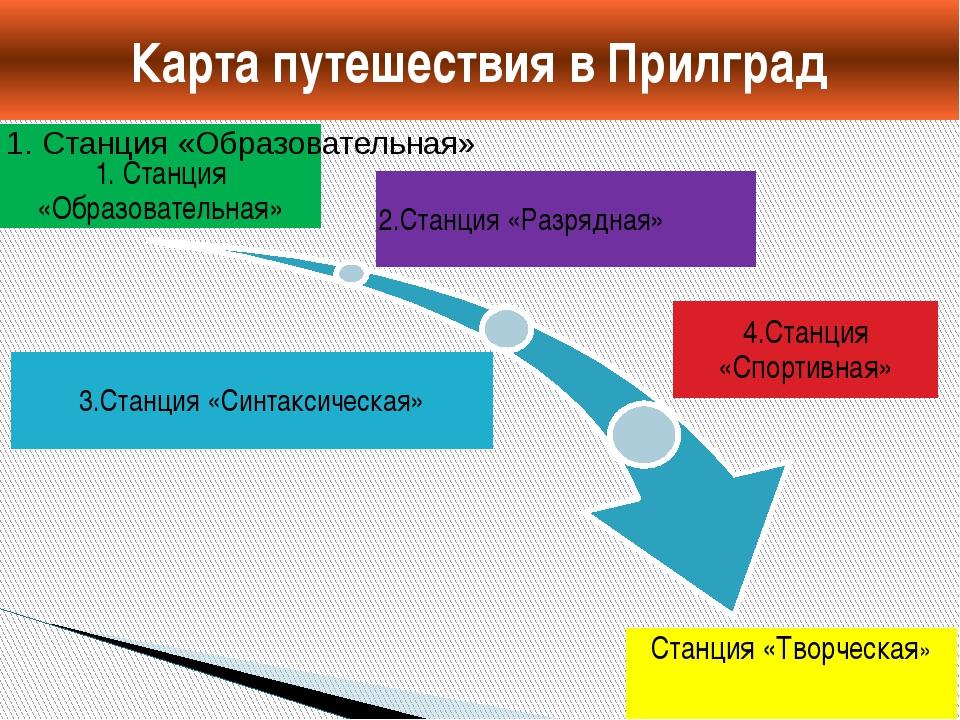 Карта путешествия в Прилград