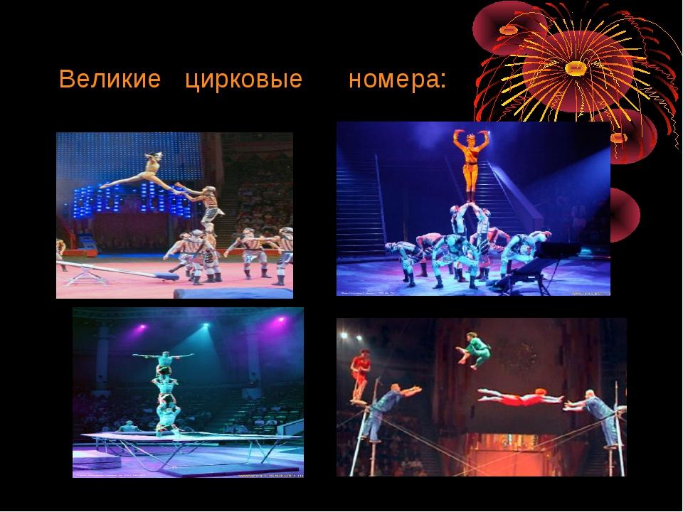 Великие цирковые номера: