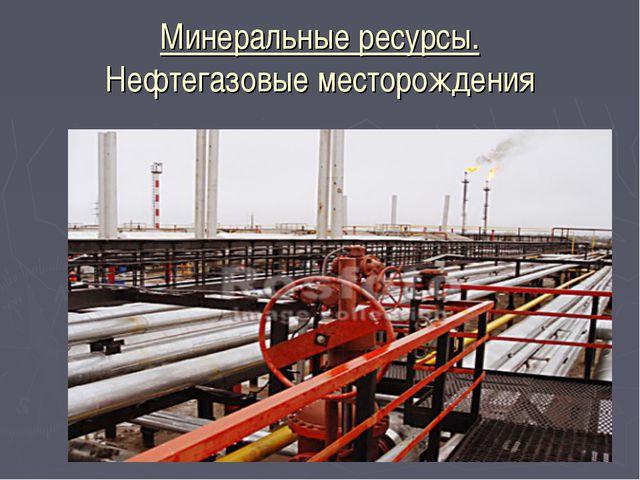 Минеральные ресурсы. Нефтегазовые месторождения