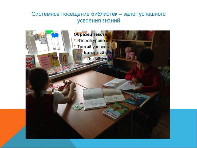 Системное посещение библиотек – залог успешного усвоения знаний