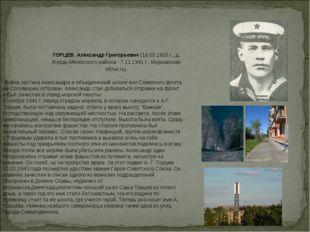 ТОРЦЕВ Александр Григорьевич(18.05.1920 г., д. Жердь Мезенского района - 7.1