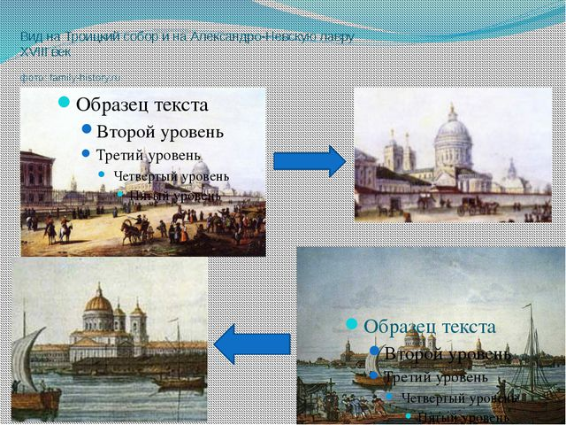 Вид на Троицкий собор и на Александро-Невскую лавру XVIII век фото: family-hi...