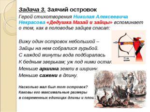 Задача 3. Заячий островок Герой стихотворения Николая Алексеевича Некрасова «