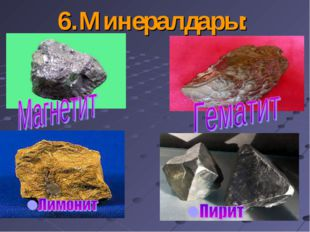 6.Минералдары: