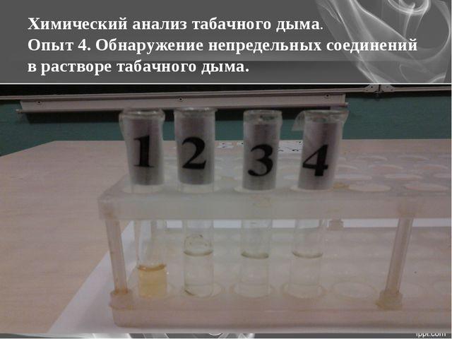 Химический анализ табачного дыма. Опыт 4. Обнаружение непредельных соединений...