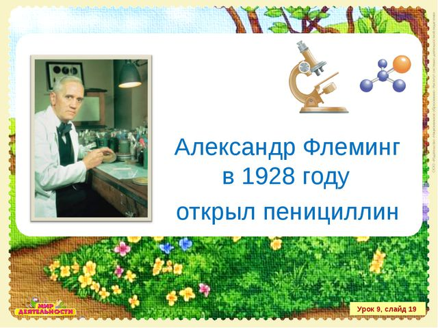 Александр Флеминг в 1928 году открыл пенициллин