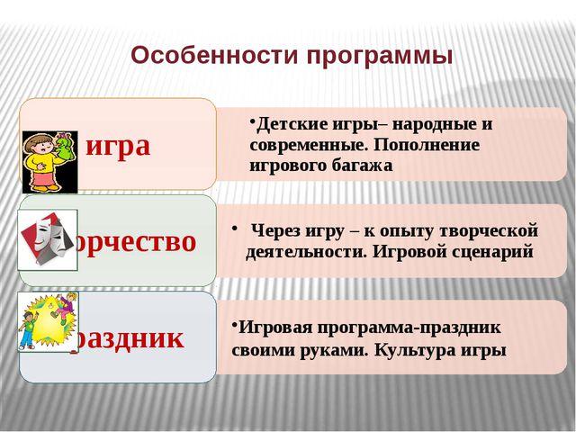 Особенности программы